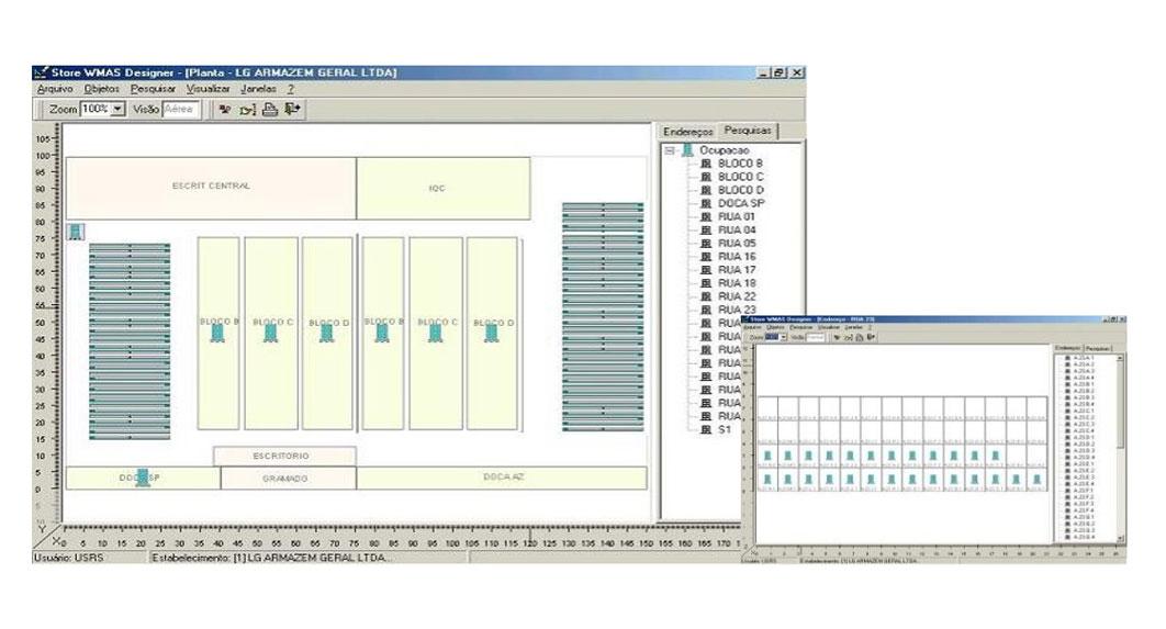 Visualização Virtual do Estoque